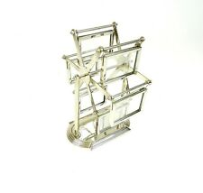 ORIGINAL FRENCH ART DECO PHOTO CAROUSEL PHOTO HOLDER STAND TURNABLE CHROME
