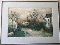 Bernard Gantner Landscape Etching Print, Signed & Numbered, Framed, E.A IX/XXXV