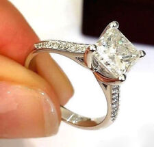 2.20Ct White Princess Diamond Engagement 925 Sterling Silver Brilliant Ring