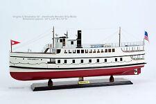 "Virginia V Steamship 30"" - Handcrafted Wooden Ship Model NEW"