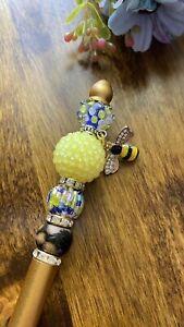 Metal Beaded Pen Lampwork Handmade Beaded Pen