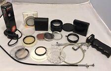 MOBILGRIP Camera Pistol Handle Grip Filters Lens Cable Lot Accessories 52mm 49mm