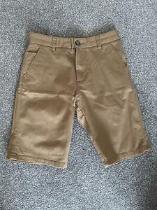 Boys Next Tan Chino Style Shorts, Age 14, VCG