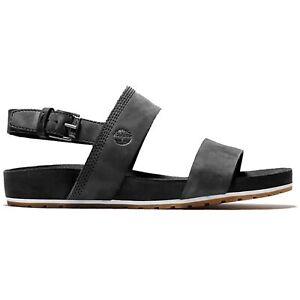 Timberland - Malibu Waves Ankle Strap Sandal Black Nubuck Sandalen Damen