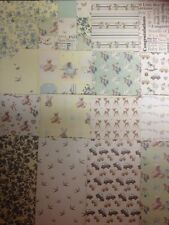16 SHEET TASTER 8 x 8 FIRST EDITION IT'S A BOY BABY CARD MAKING BACKING PAPER