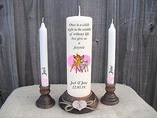 Personalised Wedding Unity Candles Disney Bambi Keepsake Gift Centrepiece