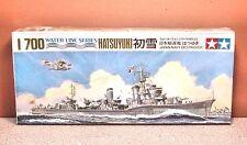 1/700 TAMIYA JAPAN NAVY DESTROYER HATSUYUKI MODEL KIT # 35