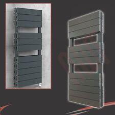 """500mm (W) x 1200mm (H) """"flusso doppio"""" Antracite Alluminio Porta asciugamani (5258 BTU)"""