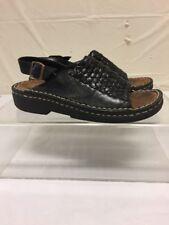 Minnetonka Black Leather Sandals Womens Sz 5 M