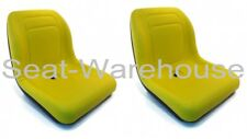 (2) Yellow HIGH BACK Seats John Deere Gator Gas  Diesel 4x2 4x4 HPX TH 6x4 #AIY2