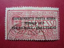 ITALIA REGNO 1917 FRANCOBOLLO DI POSTA AEREA N. A1 USATO VAL. CAT. € 55,00