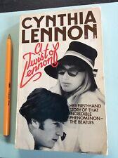 A twist of Lennon Cynthia autobiography life married to John Lennon 1978 book