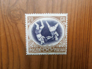 1956 Poland Olympic Games Melbourne 20 gr Boxer center inverted MNH