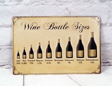 Wine Bottle Siges Metal Tin Signs Retro Bar Home Pub Shop Wall Decor Plaque