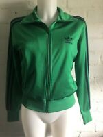 Adidas Women's Originals Track Top Size 36 Medium 12 Green  Firebird Jacket