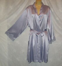 JONES NEW YORK LILAC SATIN LOUNGING ROBE DRESSING GOWN NIGHTGOWN NEGLIGEE  2X