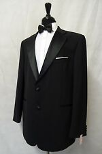 Men's M&S Black Tuxedo Dinner Suit 46L W40 L33 AA35