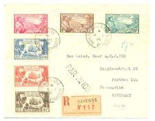 FRENCH GYUANA 1936 REG COVER TO PARAMARIBO VF