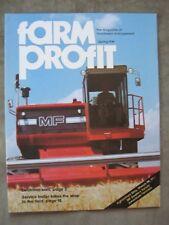1981 Massey Ferguson Farm Profit Brochure 850 860 Combine 245 2745 4840 Tractor