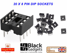 20 x high quality 8 Pin DIL / DIP IC Chip Socket FREE POSTAGE shipped from U.K