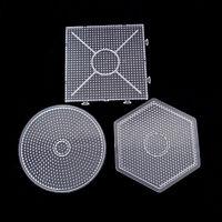 14.5X14.5cm Pegboards für Perler Beads Schablonen Stiftplatten Steckplatte frei