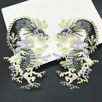 Embroidered Dragon Patch Sew On Iron On Fabric Applique DIY Clothes Sewing Craft