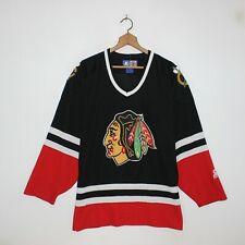 Vintage Chicago Blackhawks Starter NHL Hockey Jersey Size Medium