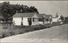 Clinton CT Maynard Cabin's Pratt Road Real Photo Postcard