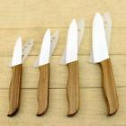 Ultra Sharp Bamboo Handle White Blade Ceramic Chef Kitchen Knife Set 3