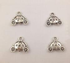 12pcs Tibetan Silver Car  Charm Pendant Bead Jewellery Making 15*13mm