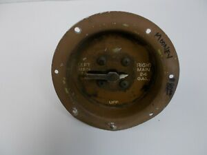 Mooney Fuel 3-Way Switch Plate  Left Main / Right Main / Off  Aircraft  BOX#2S