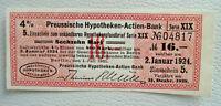 16 Mark 4 % Zinsschein Preussische Hypotheken-Actien-Bank ungültig ab 31.12.1928