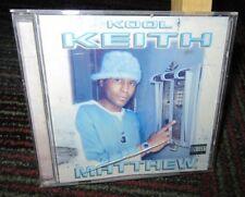 KOOL KEITH: MATTHEW MUSIC CD, 17 GREAT TRACKS, P/A, 2000 FUNKY ASS RECORDS, GUC