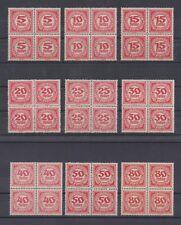 Österreich Nr. 75 - 83 Portomarken Ziffern im 4erBlock postfrisch ANK € 60,--