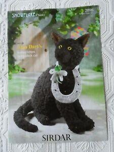 Alan Dart Knitted Kitties  Lucky Black Cat Knitting Pattern Sirdar 2096