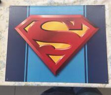 NEW Superman Logo tin metal sign