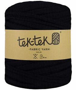 T-SHIRT YARN Knitted Black New Large Ball Cotton Knit Crochet Weave 130m