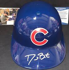 David Bote Chicago Cubs Signed Full Size Souvenir Helmet Beckett WITNESS