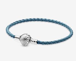 Original Pandora Leder Armband Seashell Muschel 598951C01 Silber 925 Gr. 19cm