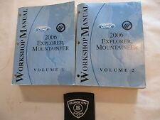 2006 FORD EXPLORER / MERCURY MOUNTAINEER 2 VOLUME SERVICE MANUAL SET