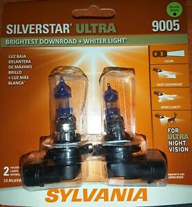 (2) SYLVANIA SilverStar ULTRA 9005 HALOGEN HEADLIGHT LAMP BULBS New L@@K ! (HB3)