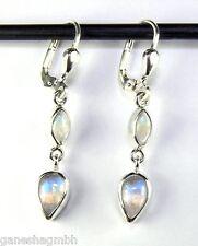 Ohrringe / Ohrhänger aus Silber 925 mit echtem Mondstein / Sterlingsilber