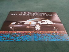 1989 VOLVO 440 TURBO LAUNCH FOLD OUT COLOUR POSTER - UK BROCHURE