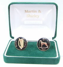 1969 IRLANDA Gemelli VECCHIO IRLANDESE 6D monete nero e oro