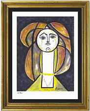 "Pablo Picasso Signed/Hand-Numbered Ltd Ed ""Woman Yellow Collar"" Litho (unframed)"