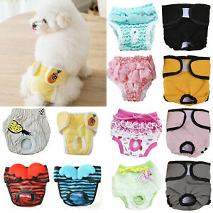 Pet Dog Sanitary Nappy Diaper Physiological Pant Puppy Underwear Shorts Briefs