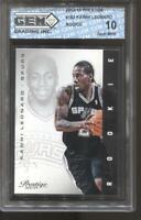 2012-13 Kawhi Leonard Prestige #162 Gem Mint 10 RC Rookie Clippers