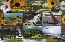 MODERN GEMS - Sierra Leone - Year of Eco Tourism - Sheet of 6 - MNH
