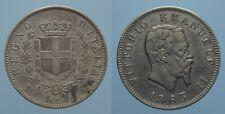 REGNO D'ITALIA VITT.EMANU.II 1 LIRA 1863 MILANO-STEMMA bel BB