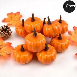 12Pcs Mini Artificial Pumpkin Foam Simulation Props Halloween Decoration Decor